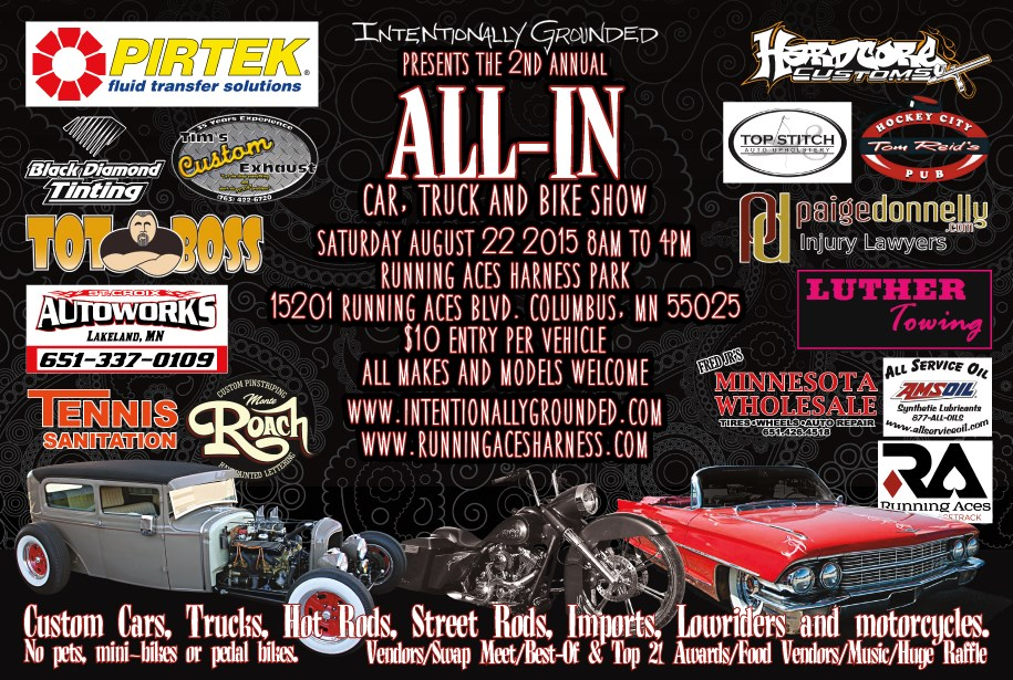 AllIn Car Truck Bike Show Twin Cities Tourism Attractions - Car show mn